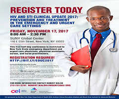 HIV and STI Clinical Update 2017: Prevention and Treatment in the Emergency and Urgent Care Settings