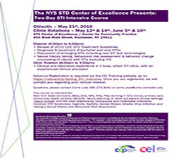 The NYS STD Center of Excellence Two-Day STI Intensive Course