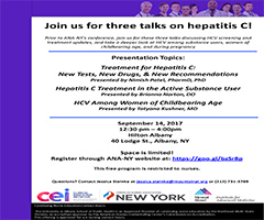 Join us for three talks on Hepatitis C!