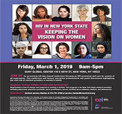 Register Today! HIV in New York State: Keeping the Vision on Women