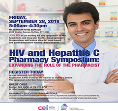 ATTENTION WESTERN NY PHARMACISTS! HIV and Hepatitis C Symposium: Expanding the Role of the Pharmacist