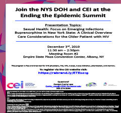 Join the NYSDOH and CEI at Ending the Epidemic (ETE) Summit