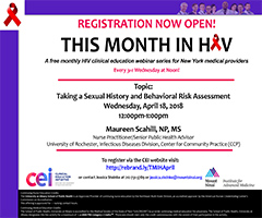 April This Month in HIV: Taking a Sexual History and Behavioral Risk Assessment