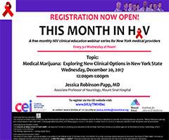 December This Month in HIV: Medical Marijuana: Exploring New Clinical Options in New York State