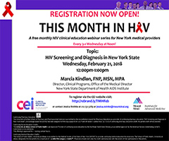 February This Month in HIV: HIV Screening and Diagnosis in New York State