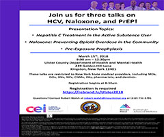 Kingston Area Medical Providers! Three Talks on HCV, Naloxone, and PrEP!