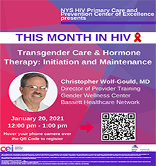 This Month in HIV: Transgender Care & Hormone Therapy: Initiation and Maintenance