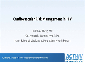 Best of ACTHIV: Cardiovascular Risk Management in HIV
