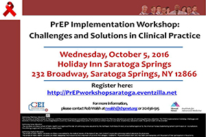 SAVE THE DATE! PrEP Implementation Workshop: Challenges and Solutions in Clinical Practice