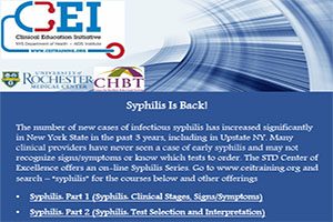 Syphilis Series: Syphilis Is Back!