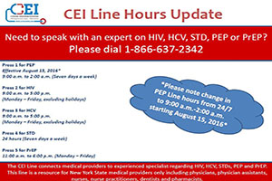 CEI Line Hours Update!