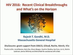 ACTHIV 2016 Conference - Recent Clinical Breakthroughs and What's on the Horizon