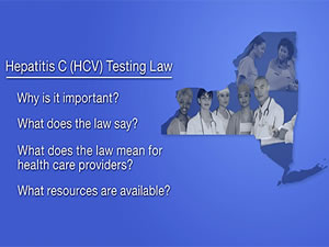 PSA: New York State Hepatitis C Testing Law